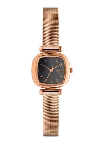 KOMONO black and gold Moneypenny Royale Rose Gold Black Watch KO163AC0T0SJMY_1