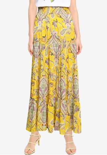 Desigual yellow Bell Paisley Maxi Skirt 89E92AA9589F40GS_1