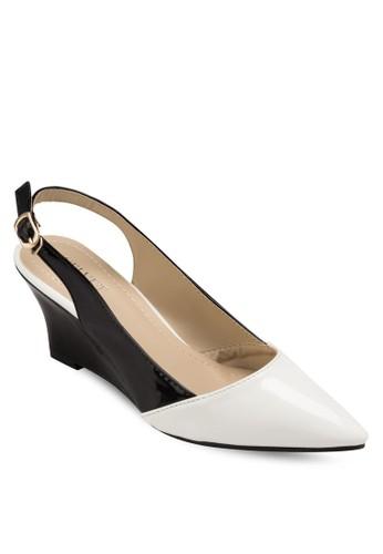 Kira 撞色尖頭楔型鞋, 女鞋esprit outlet 台灣, 鞋