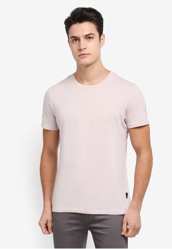 Burton Menswear London 粉紅色 短袖素色質感T恤 2C365AA3380FAFGS_1