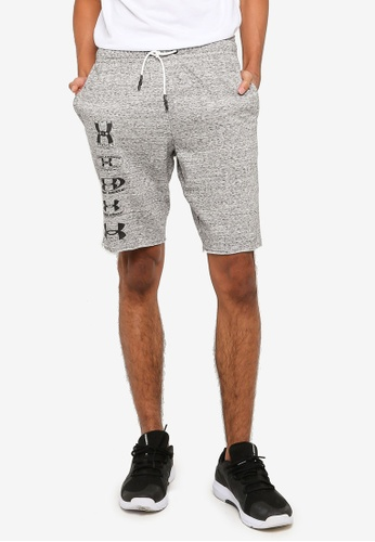 Under Armour white Rival Terry 25th Anniversary Shorts 0B970AA7C75871GS_1