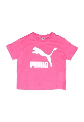 PUMA pink Classics Short Sleeve Youth Tee 1EC5AKA9697E56GS_1