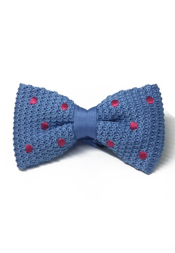 Splice Cufflinks blue Webbed Series Bright Pink Polka Dots Sky Blue Knitted Bow Tie SP744AC76UBVSG_1