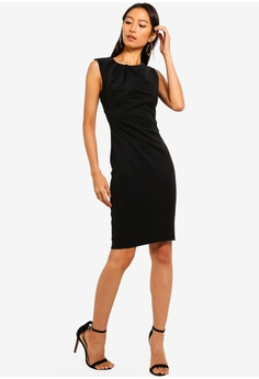 86515e2afa6 58% OFF Goddiva Neck Pleated Midi Dress S  59.90 NOW S  24.90 Sizes 10 12 14