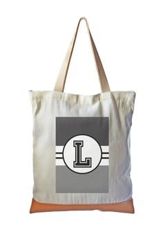 Tote Bag Monochrome Sporty Initial L