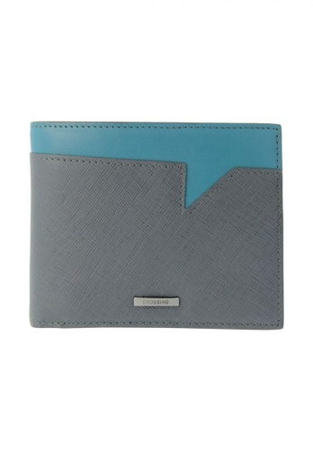 6126d38bdcbf CROSSING grey Crossing Saffiano Transition Bi-fold Wallet With Flap & Coin  Pouch - Iron