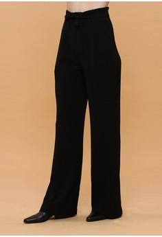 01d846218eb605 Wearstatuquo black Basic High Waisted Long Trousers 4465DAA9656B5DGS 1