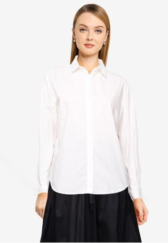 LOWRYS FARM white Long Sleeve Shirt 134EFAA632A6C4GS_1