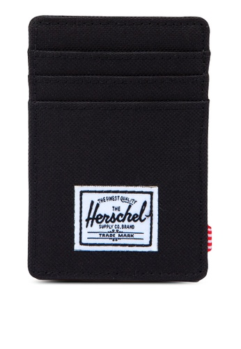 Herschel black Raven Card Holder HE305AC77BNQSG_1