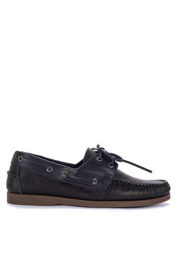 G&G navy Jovacelli Boat Shoes 34E62SH432E724GS_1
