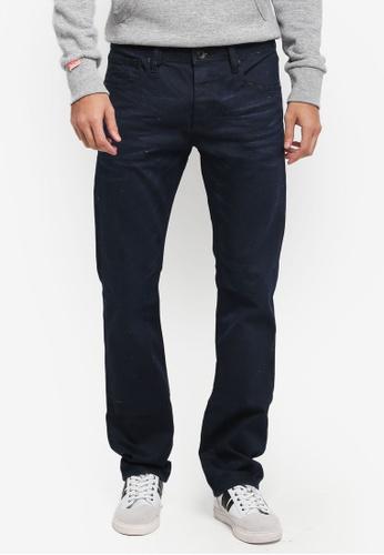 Superdry 黑色 休閒直筒牛仔褲 SU137AA0T231MY_1