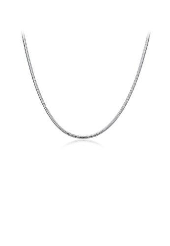 Glamorousky silver Fashion Simple Snake Necklace C2B62ACB8699C5GS_1