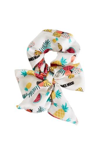 LC Waikiki white Patterned Print Girl Hair Tie F6F2FKC0DB225BGS_1