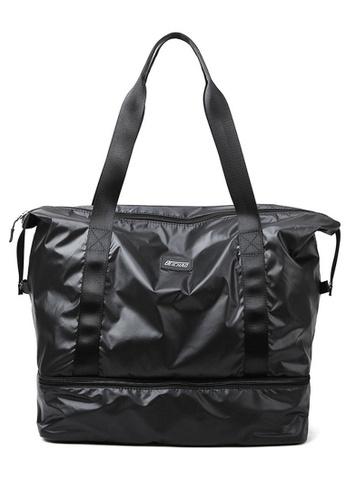 Twenty Eight Shoes black VANSA Simple Oxford Travel Tote Bag VBW-Tb9B32L 2E833ACB239F64GS_1