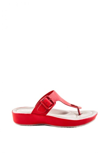 Otto red T-Bar Buckled Sandals 22863SHA344EE4GS_1