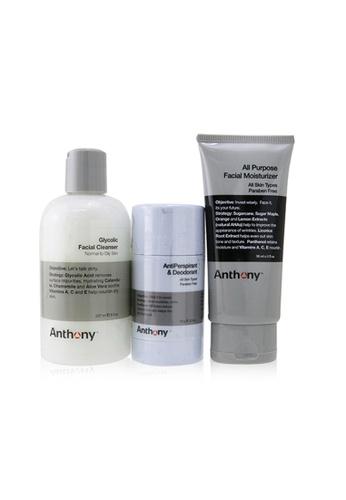 ANTHONY ANTHONY - Basic Kit With AntiPerspirant & Deodorant: Cleanser 237ml + Moisturizer 90ml + Deodorant 70g 3pcs BDDC3BE1ED6F48GS_1