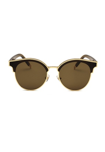 Kyfer's Eyewear & Essentials brown and green SIGN OF TWO Sunglasses KY376AC06OXTSG_1