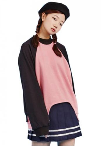 A X A pink Cut-Out 2 Sweat Shirt AX230AA45CEOSG_1