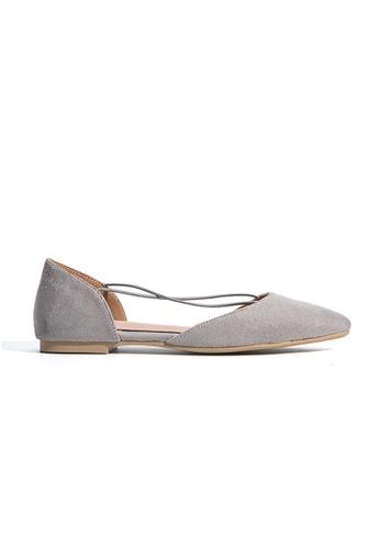hk-ehunter grey Velvet Skin Flat Shoes HK648SH40YELHK_1