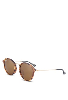 53aeba429a37d2 Shop Ray-Ban Round Flat Lenses RB2447NF Sunglasses Online on ZALORA ...