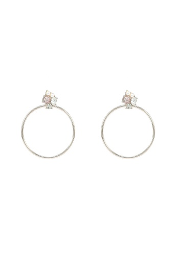 Forever New gold Eden Cluster Drop Hoop Earrings 1918FAC5FF24AAGS_1
