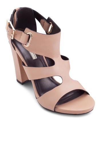 多帶esprit 衣服繞踝粗跟涼鞋, 女鞋, 鞋