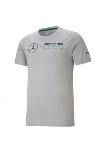 PUMA grey PUMA Mercedes F1 Logo Men's Tee E8B9EAA54683CFGS_1