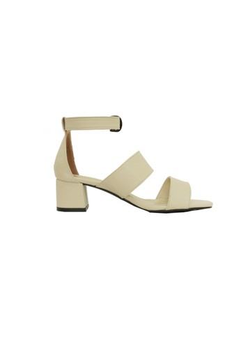 MIKA beige Padma Cream Sandal Heels MI737SH57UBYID_1