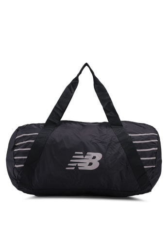 New Balance black Packable Duffel Bag 2139DACCFC63AAGS_1