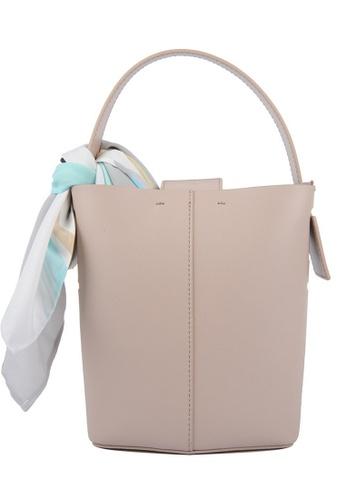 RO Bags beige RO Terranova Felucca Mini Top Handle Bucket Bag in Rose Cloud/Black 910B2AC4B3FED7GS_1