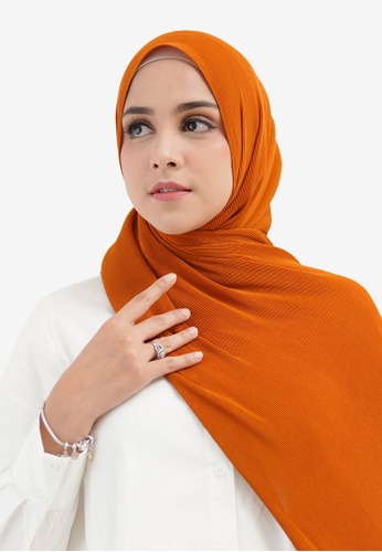 Buttonscarves orange Buttonscarves Everyday Pleated Shawl Orange 1C599AAF31433FGS_1