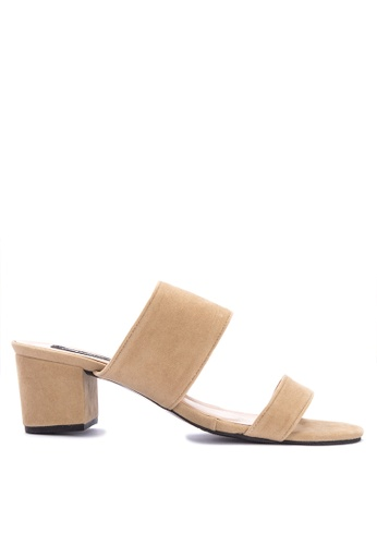 5c09f3cbc50 Ashley Collection beige Double Strap Slip On High Heels 83515SH4BD1C95GS 1