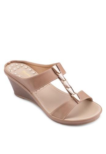 楔型跟休閒涼鞋, 女鞋, 楔形esprit地址涼鞋