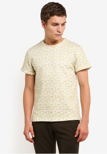 ZALORA yellow All Over Terry Tee 06B60AA730C556GS_1