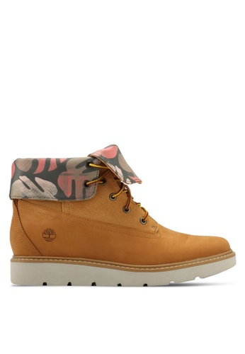 Timberland brown and multi Kenniston Roll-Top Boots E0E05SHB2E500DGS_1