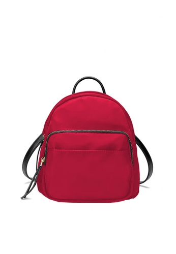 Twenty Eight Shoes red VANSA Oval Nylon Oxford Backpacks VBW-Bp1007 58C7DAC8F5FFBAGS_1