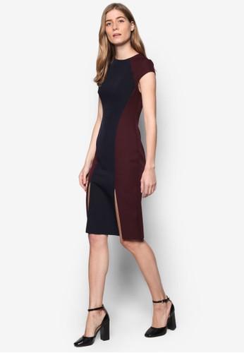 Petite 色塊開esprit專櫃衩細節連身裙, 服飾, 服飾