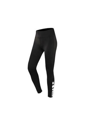 fdf46f59643c66 VIVIESTA SPORT black Lace-Up Cutout Full-Length Gym Leggings  31398AAD62CAE7GS_1