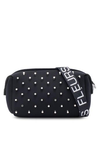 La Fille Des Fleurs black G- Pouch Studded Belt Bag 9E021ACF47FE96GS_1