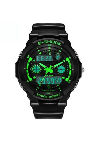 Greatnes Trading Corp green LED Quartz Digital Sports Watch   ZG507 GR861AC60IOLPH_1