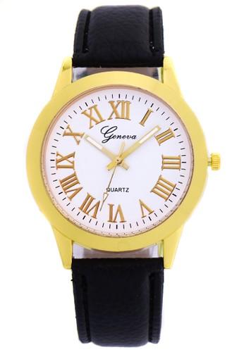 Digitec black Fashion Geneva 008 - Jam Tangan Wanita - Gold Hitam DI108AC0VQEXID_1