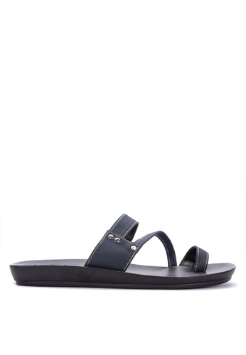 Frassino Collezione navy One-Toe Sandals BFADESHAC6FFD0GS_1