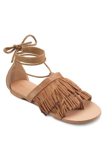 ZALORA Fringe Flat Sandals