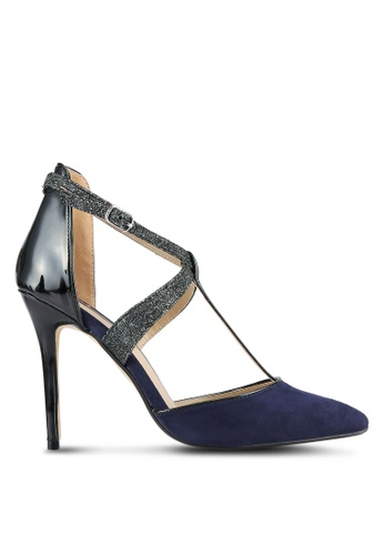 Dorothy Perkins blue Navy Gloria T-Bar Court Heels DO816SH0SB6XMY_1