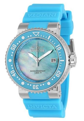 INVICTA blue Invicta Pro Diver Men 40mm Case Light Blue Silicone Strap Light Blue, Antique Silver Dial Quartz Watch 22670 w/ Cap IN968AC0FFF3SG_1