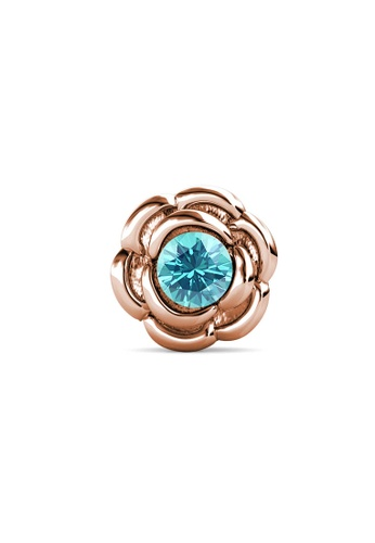 Her Jewellery gold Petunia Brooch (December, Rose Gold) - Made with Premium grade crystals from Austria A820AACD5FAEC9GS_1