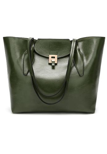 Lara green Women Solid Lock Shoulder Bag EB9C0AC4D655EFGS_1