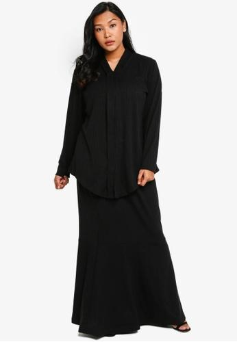 CURVA FABULOUS black Ms Umairah Bodycon Kebaya Kurung C99D3AA3EC7815GS_1