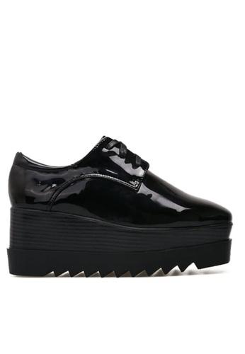 Twenty Eight Shoes black Wood Platform  Derbies 6198 TW446SH2V3C7HK_1