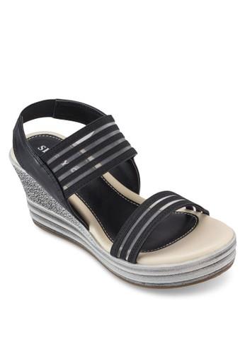 網esprit門市地址格繫帶楔型鞋, 女鞋, 鞋